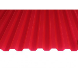 Профилированный поликарбонат 0,9мм. Красный 2м