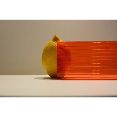 Поликарбонат сот. 4 мм - красный 2,1х12м