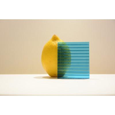 Поликарбонат сот. 4 мм - бирюза 2,1х6м