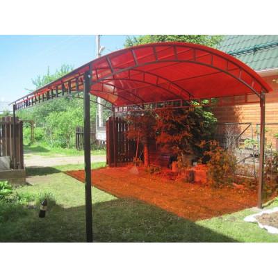 Поликарбонат сот. 4 мм - красный 2,1х6м