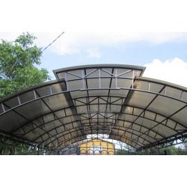 Сотовый поликарбонат 4мм бронза, 12 м