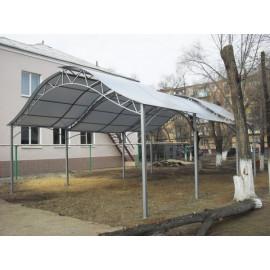 Сотовый поликарбонат 4 мм серебристый, 6 м