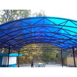 Сотовый поликарбонат 4 мм синий, 12 м