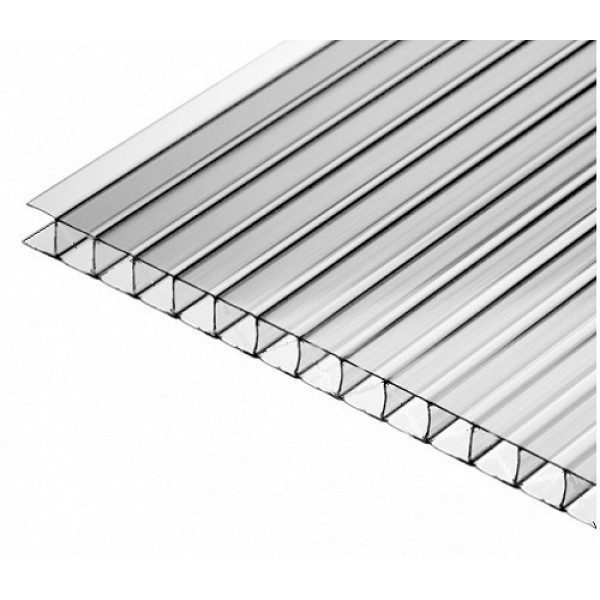 Поликарбонат сот. 4мм. прозрачный Стандарт 2,1х12м