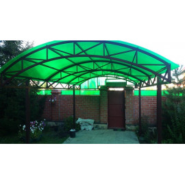 Сотовый поликарбонат 4мм зеленый, 12 м