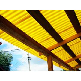 Профилированный поликарбонат 0,9мм. Желтый 2м