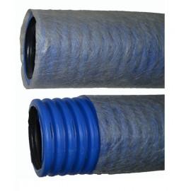 Труба дренажная двухслойная  ПНД d110 мм перфорированная с геотканью