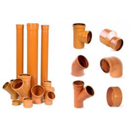 Тройник для дренажной трубы и канализации 110мм