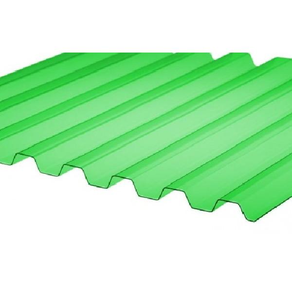 Профилированный поликарбонат 0,9мм. Зеленый колотый лед.