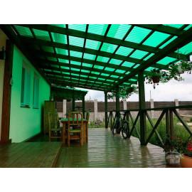 Монолитный поликарбонат 3мм Зеленый