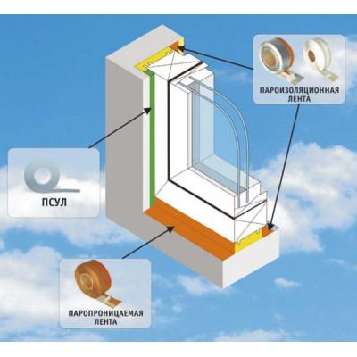 Гидро-пароизоляционная лента для окон Липлент-Мфт 100мм