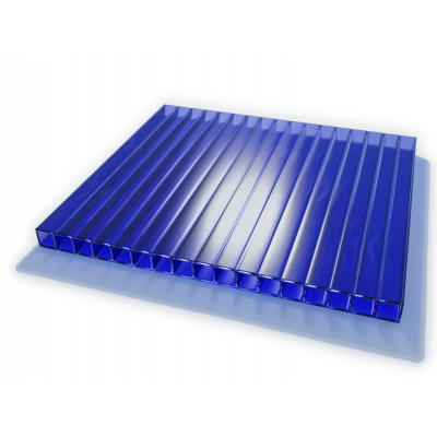 Поликарбонат сот. 4 мм - синий 2,1х6м