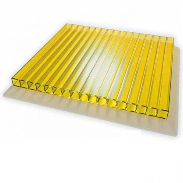 Поликарбонат сот. 4 мм - жёлтый 2,1х12м