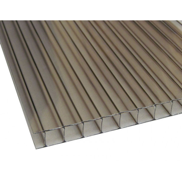 Поликарбонат сот. 4 мм - бронза 2,1х12м